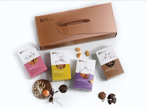 מארז שוקולד עם 4 מארזי חלומות ושוקולד על מקל