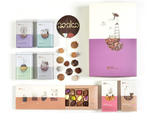 מארז שוקולד באהבה עם פרלינים וטראפלס