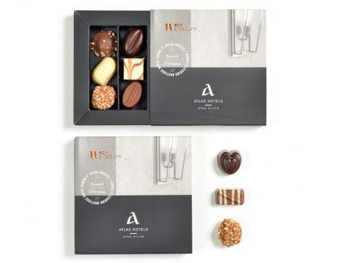 שוקולד ממותג למלונות אטלס