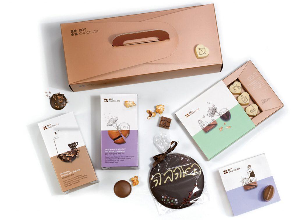 מארז שוקולד באהבה עם פרלינים מודפסים