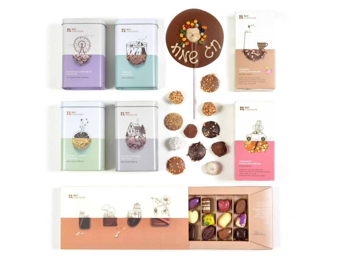מארז שוקולד עשיר לפורים הכולל טראפלס וסדרת חלומות